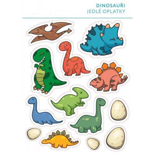 Jedlý papír karta - Dinosauři mix - 13ks