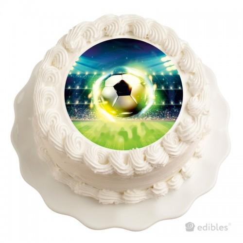 Jedlý papír kulatý - fotbal - 1 + 10ks