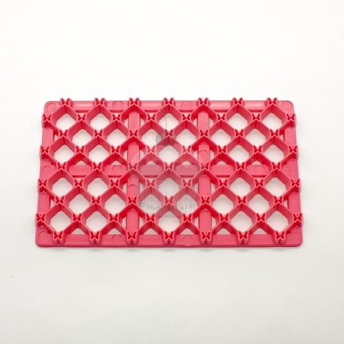 Růžová otiskovací podložka - čtvereček malý + motýl