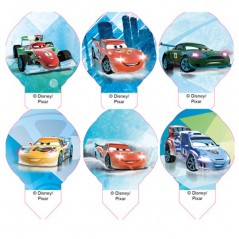 Disney jedlý papír MIX Cars mini - 12ks