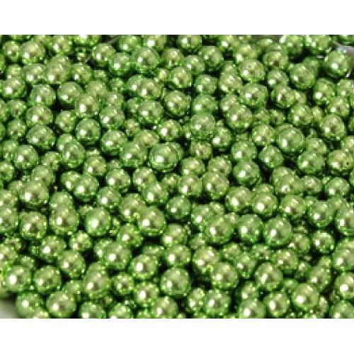 Cukrové perličky 6mm - zelené - 50g