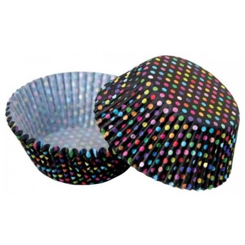 Cukrářské košíčky - barevné puntíky - 50ks