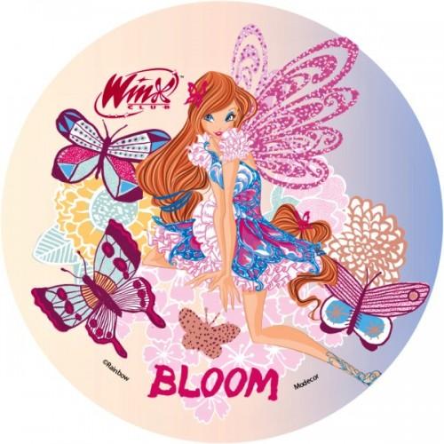 Jedlý papír kulatý - Winx - Bloom