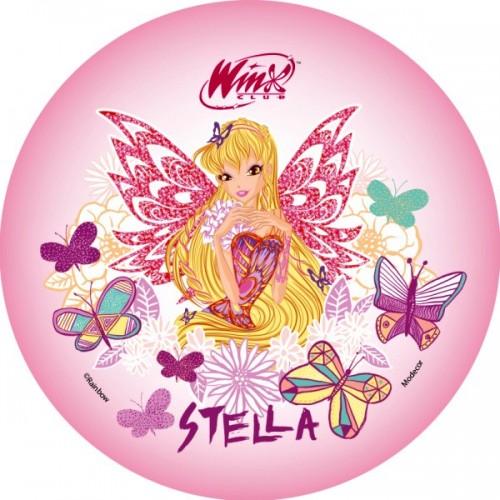 Jedlý papír kulatý - Winx - Stella