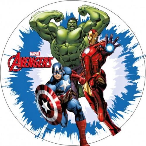 Jedlý papír kulatý - Avengers