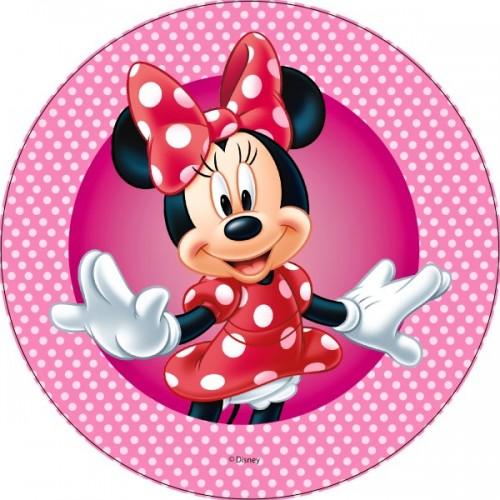 Jedlý papír kulatý - Minnie Mouse