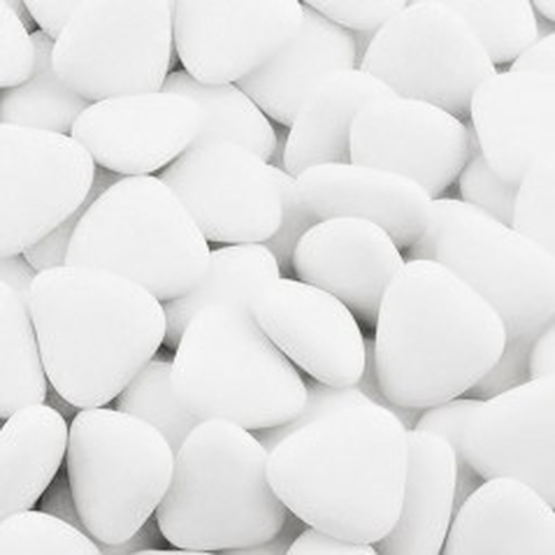 Čokoládová srdíčka - bílá - 50g