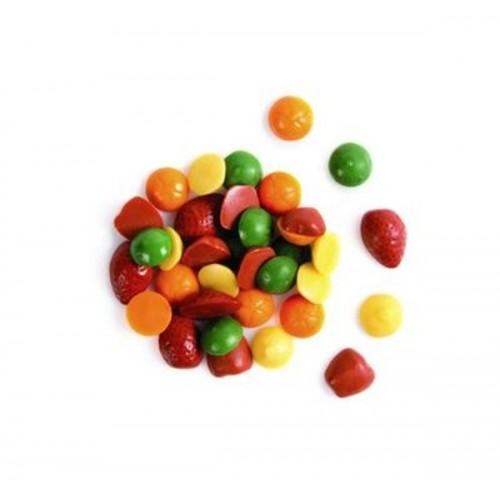 Čokoládová dekorace - mini ovoce barevné - 50g