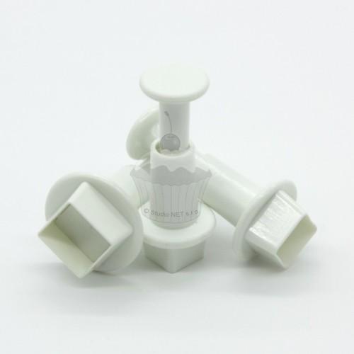 Vypichovače mini čtverečky - 3ks