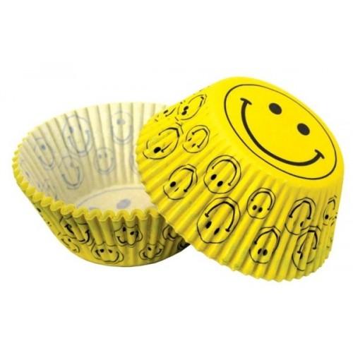 Cukrářské košíčky - smile žluté - 50ks