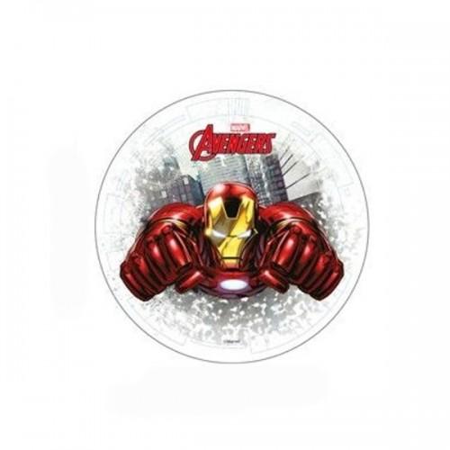 Jedlý papír kulatý - Marvel - Avengers - Iron man 20cm
