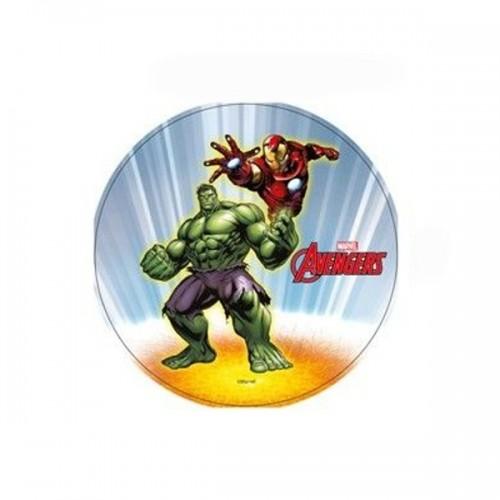 Jedlý papír kulatý - Marvel - Avengers - Halk + Iron man
