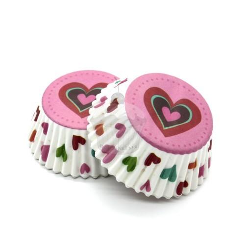Cukrářské košíčky - duhová láska 50ks