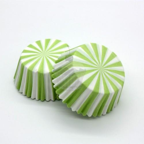 Cukrářské košíčky - zelené paprsky 50ks