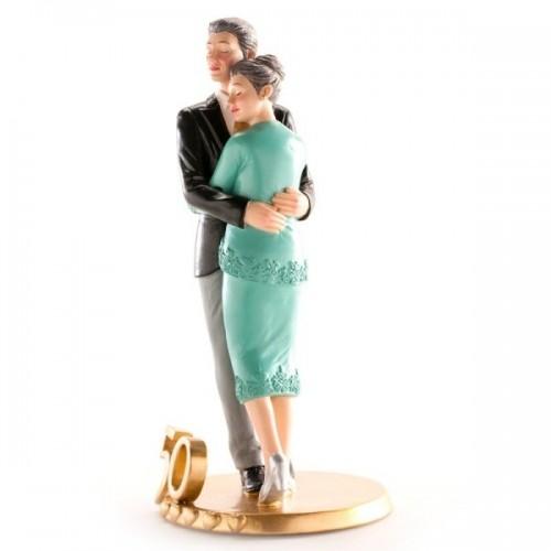 Svatební figurky - 50. výročí - zlatá svatba