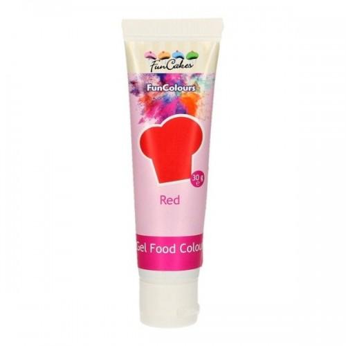 FunColours - gelová barva - červená - RED - 30g