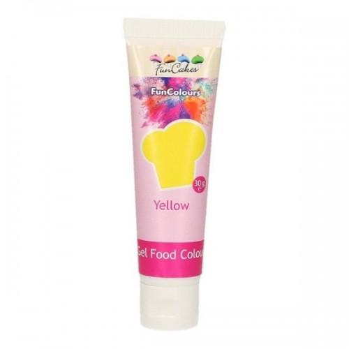 FunColours - gelová barva - žlutá - YELLOW - 30g
