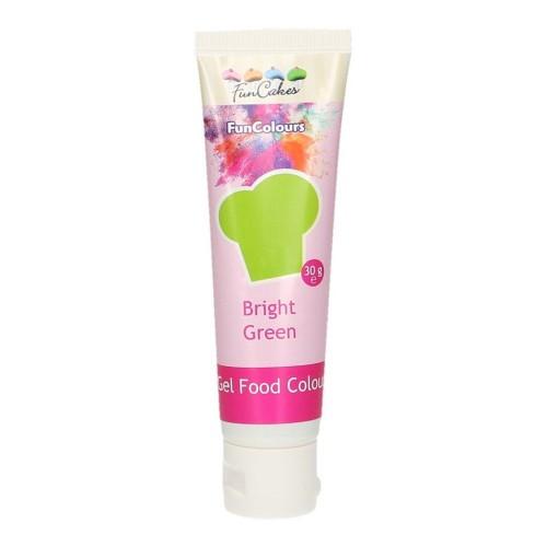 FunColours - gelová barva - zelená - Bright Green - 30g