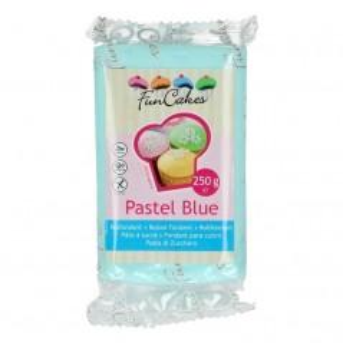 FunCakes potahový fondán Pastel Blue - modrá 250g
