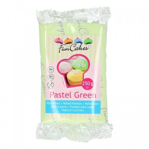 FunCakes potahový fondán Pastel Green - zelená 250g