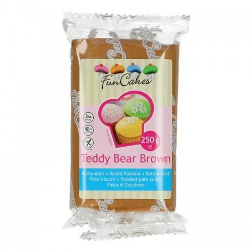 FunCakes potahový fondán Teddy Bear Brown 250g