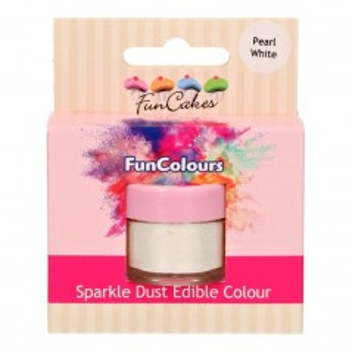 FunColours prachová perleťová barva bílá - Pear White - 3,5g