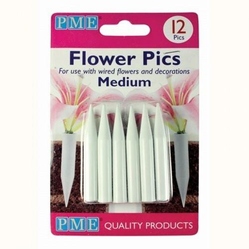 PME zápich na živé květiny - střední 12ks