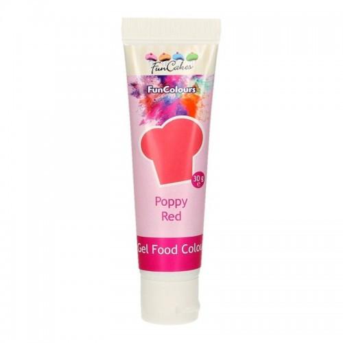 FunColours - gelová barva - červená - Poppy red 30g