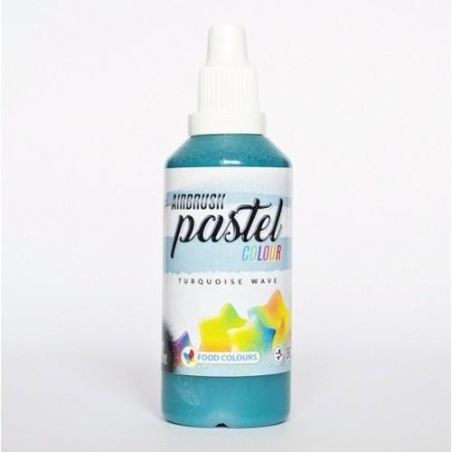 Airbrush pastelová barva tekutá 60ml Food Colours Turquoise Wave