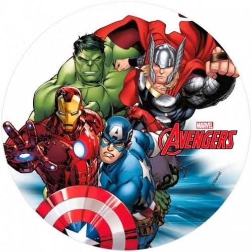 Jedlý papír kulatý - Marvel - AVENGERS