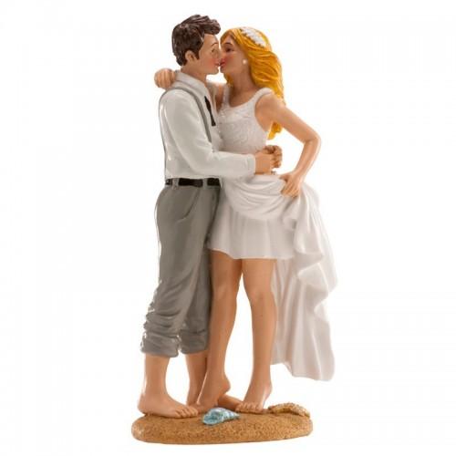 Svatební figurky - na pláži