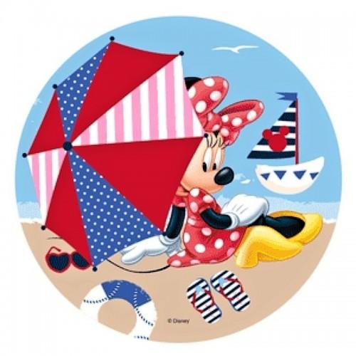 Jedlý papír kulatý - Minnie - pláž