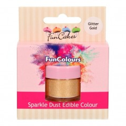 FunColours prachová perleťová barva zlatá - Glitter gold - 3,5g