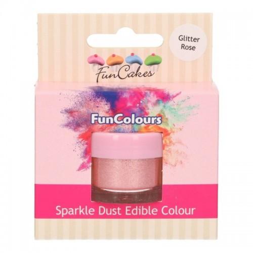FunColours prachová perleťová barva růžová - Glitter rose - 3,5g