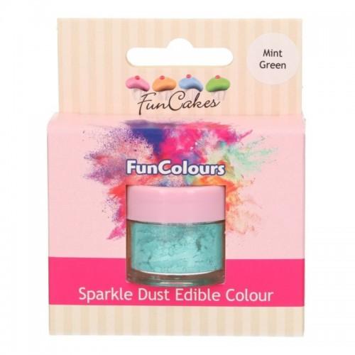 FunColours prachová perleťová barva - mint green - 2,5g