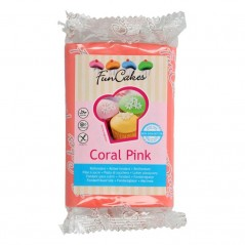 FunCakes potahový fondán Coral Pink - růžová 250g