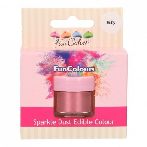 FunColours prachová perleťová barva - ruby  3g