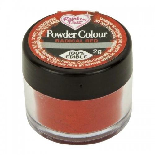 RD Prachová barva červená Rainbow - Radical red  1-5g