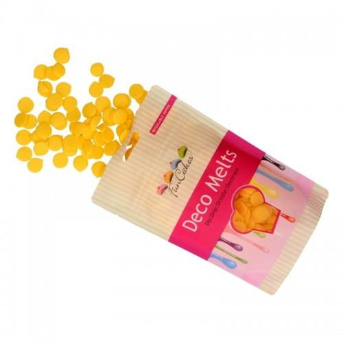 FunCakes deco melts - poleva žlutá  - disky - 250g