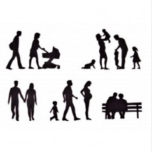 Vykrajovátka patchwork   - siluety rodiny 11ks
