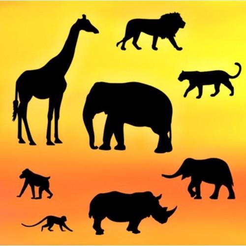 Vykrajovátka patchwork   - siluety safari 8ks