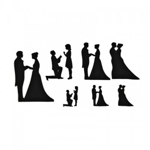 Vykrajovátka patchwork   - svatební siluety 9ks