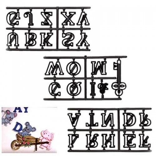 Vykrajovátka patchwork   - velká písmena + klíč 28ks