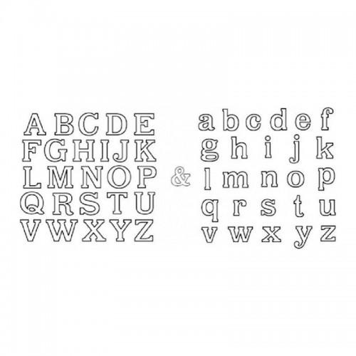 Vykrajovátka patchwork - malá a velká abeceda 1,3cm / 2ks