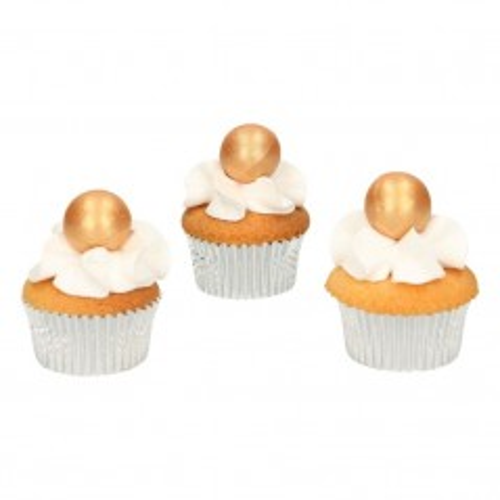 FunCakes pearl choco balls gold - zlatá - 8ks