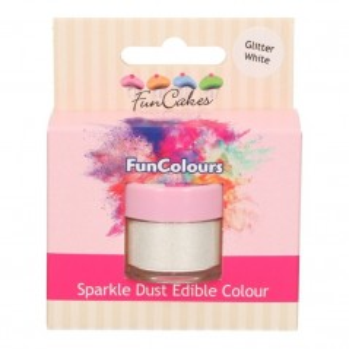 FunColours prachová perleťová barva - Glitter White 3,5g