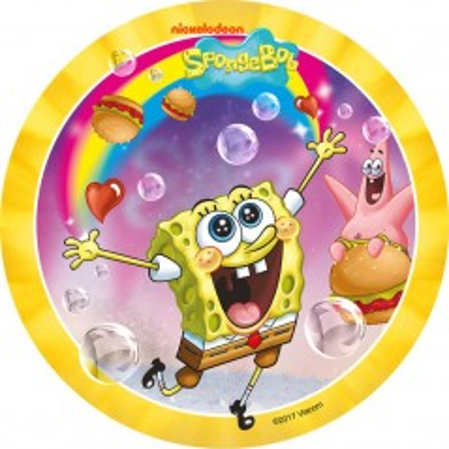 Jedlý papír kulatý - SpongeBob