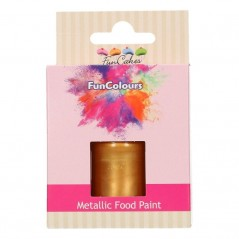 FunColours Metallic Food Paint Dark Gold - zlatá 30ml