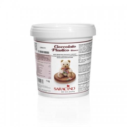 Saracino modelovací čokoláda bílá -  1kg