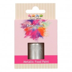 FunColours Metallic Food Paint silver - stříbrná  30ml